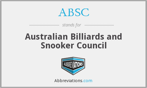 ABSC - Australian Billiards and Snooker Council