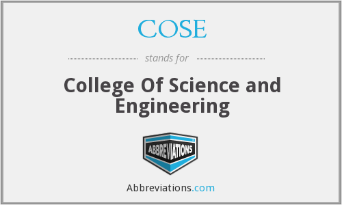 COSE - College Of Science and Engineering