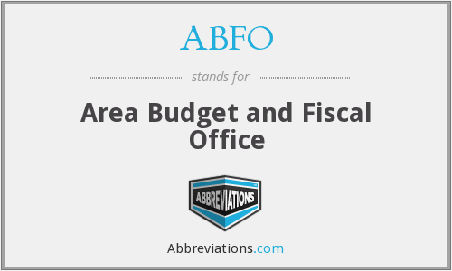 ABFO - Area Budget and Fiscal Office