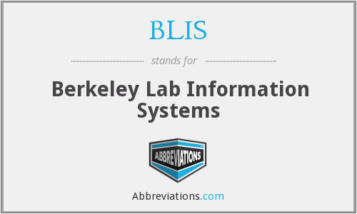 BLIS - Berkeley Lab Information Systems