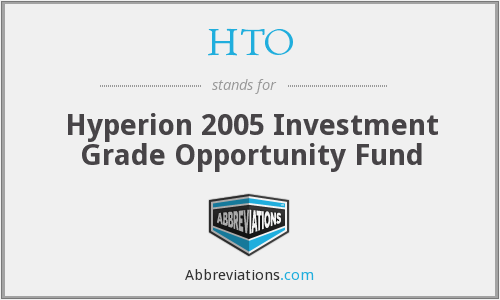 HTO - Hyperion 2005 Investment Grade Opportunity Fund