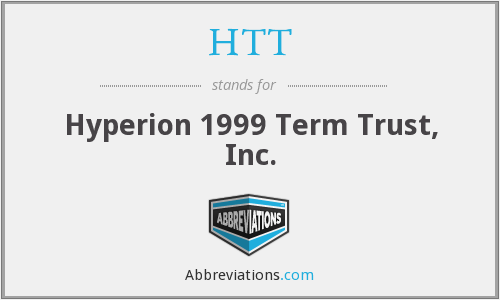 HTT - Hyperion 1999 Term Trust, Inc.