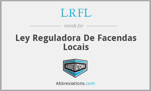 What does LRFL stand for?