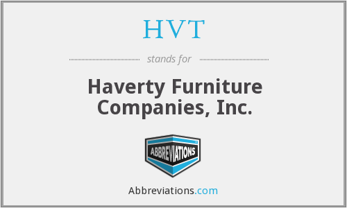 HVT - Haverty Furniture Companies, Inc.