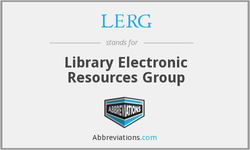 LERG - Library Electronic Resources Group
