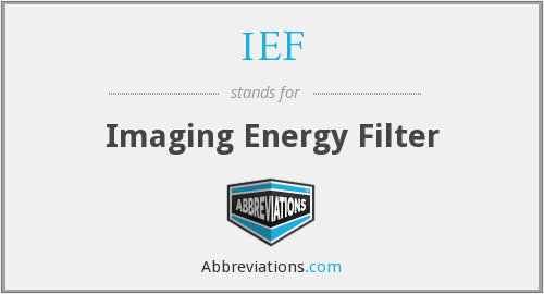 IEF - Imaging Energy Filter
