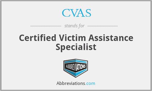 CVAS - Certified Victim Assistance Specialist