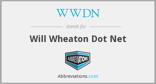 WWDN - Will Wheaton Dot Net