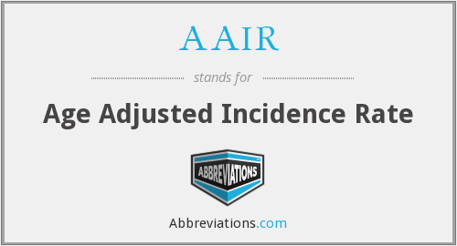 AAIR - Age Adjusted Incidence Rate