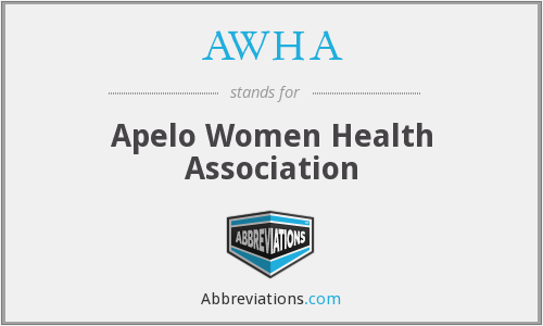 What does AWHA stand for?