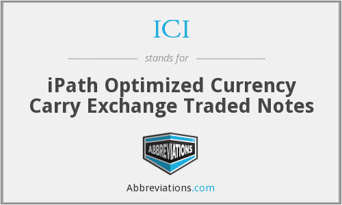 ICI - iPath Optimized Currency Carry Exchange Traded Notes