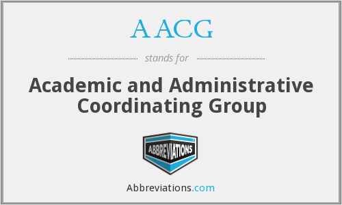 AACG - Academic and Administrative Coordinating Group