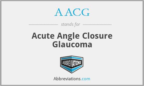 AACG - Acute Angle Closure Glaucoma