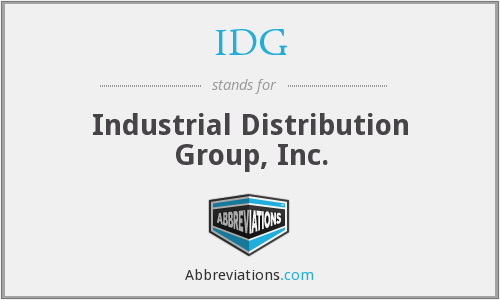 IDG - Industrial Distribution Group, Inc.