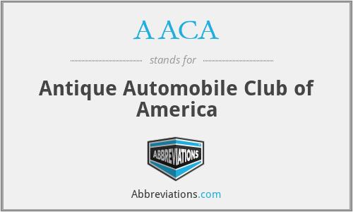 AACA - Antique Automobile Club of America