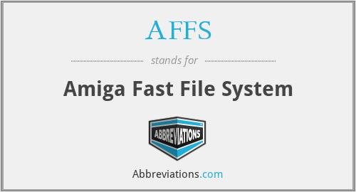 AFFS - Amiga Fast File System