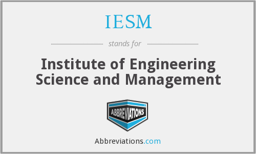 What does IESM stand for?