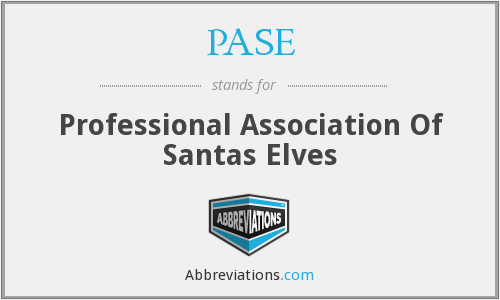 PASE - Professional Association Of Santas Elves