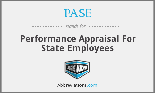 PASE - Performance Appraisal For State Employees