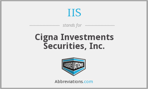 IIS - Cigna Investments Securities, Inc.