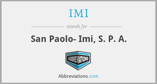 IMI - San Paolo- Imi, S. P. A.