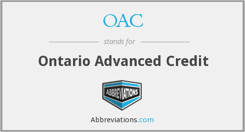 OAC - Ontario Advanced Credit