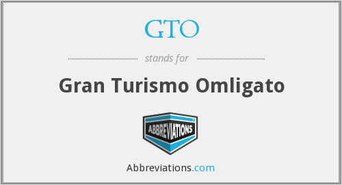 GTO - Gran Turismo Omligato
