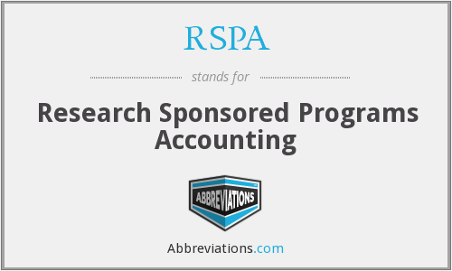 RSPA - Research Sponsored Programs Accounting