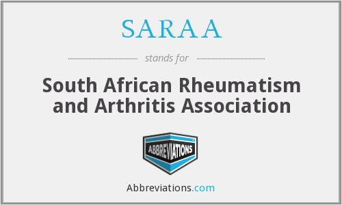 SARAA - South African Rheumatism and Arthritis Association
