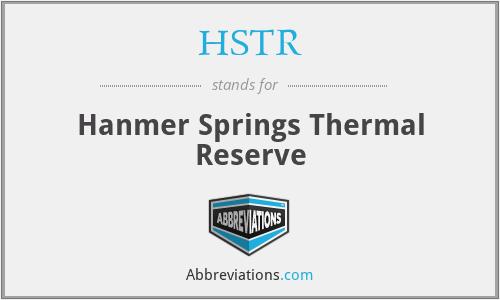 HSTR - Hanmer Springs Thermal Reserve