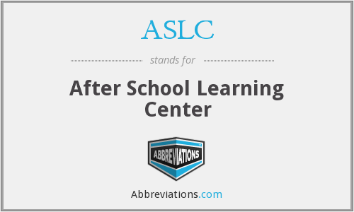 ASLC - After School Learning Center