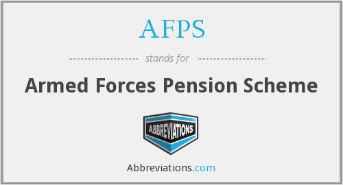 AFPS - Armed Forces Pension Scheme