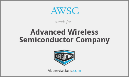 AWSC - Advanced Wireless Semiconductor Company