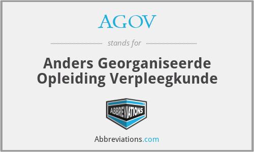 AGOV - Anders Georganiseerde Opleiding Verpleegkunde