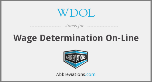 WDOL - Wage Determination On-Line