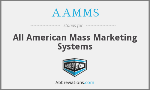 AAMMS - All American Mass Marketing Systems