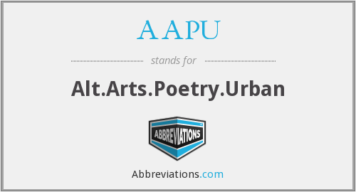 AAPU - Alt.Arts.Poetry.Urban