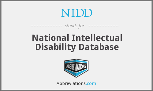 NIDD - National Intellectual Disability Database