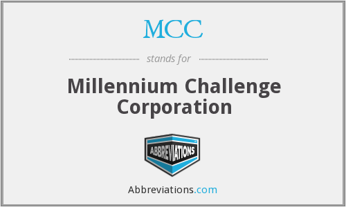 MCC - Millennium Challenge Corporation