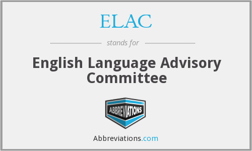 ELAC - English Language Advisory Committee