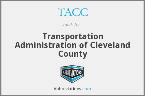 TACC - Transportation Administration of Cleveland County