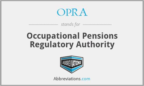 OPRA - Occupational Pensions Regulatory Authority