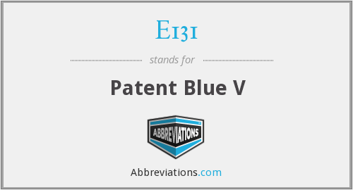 E131 - Patent Blue V