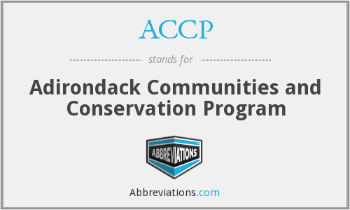 ACCP - Adirondack Communities and Conservation Program