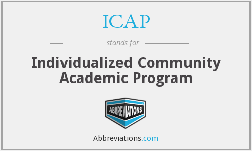 ICAP - Individualized Community Academic Program