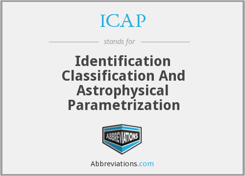 ICAP - Identification Classification And Astrophysical Parametrization