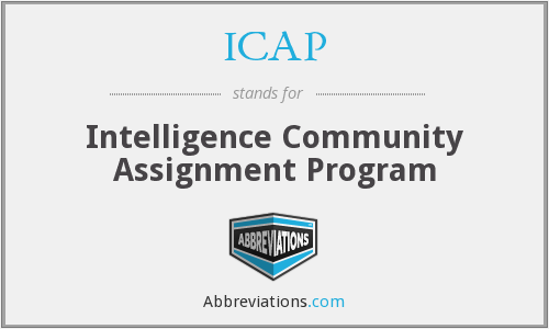 ICAP - Intelligence Community Assignment Program