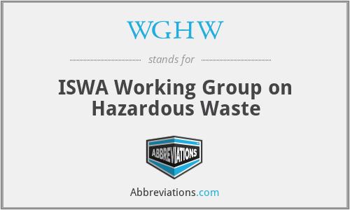 WGHW - ISWA Working Group on Hazardous Waste