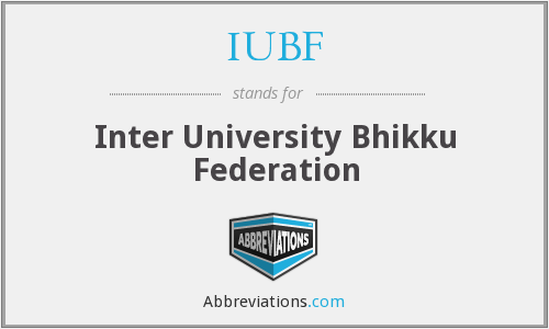 What does IUBF stand for?