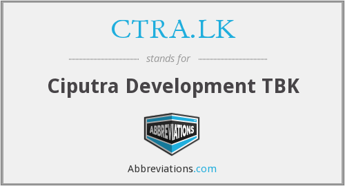 What does CTRA.LK stand for?